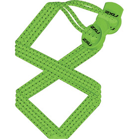 2XU Performance Locked Laces Fluro Green/Fluro Green